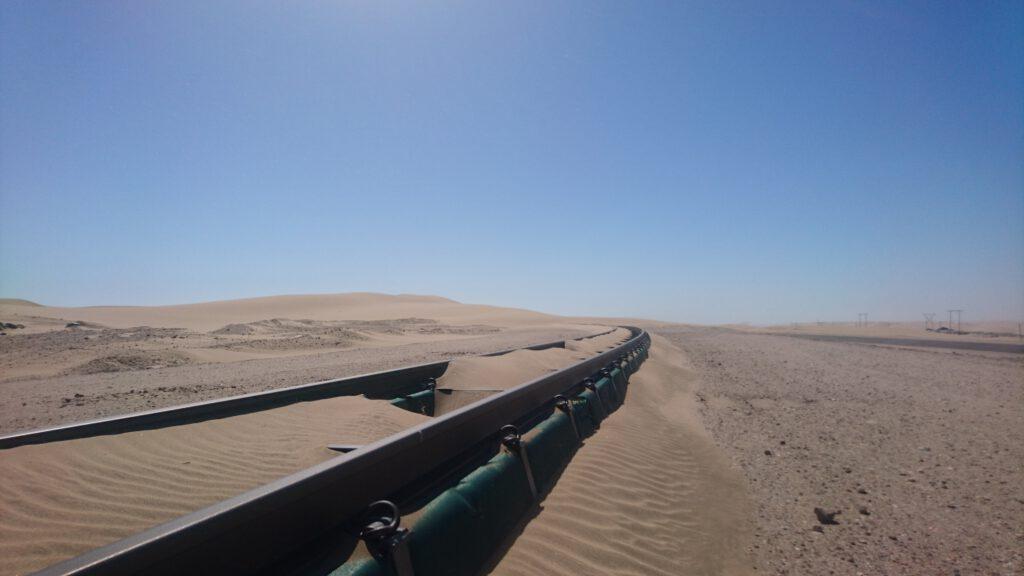 Alte deutsche Eisenbahnstrecke in Namibia