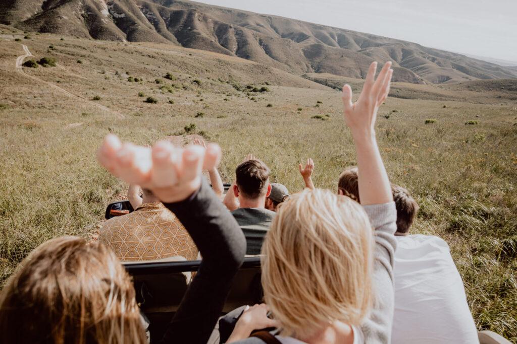 Alle zusammen auf Safari in Südafrika