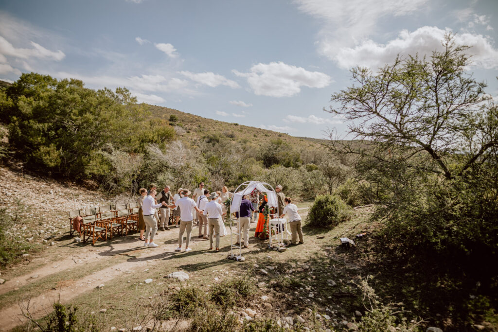 Trauung unter der Mittagssonne Südafrikas
