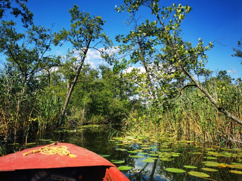 Unterwegs auf einem der vielen Wasserwegen zwischen den Seen der Uckermark
