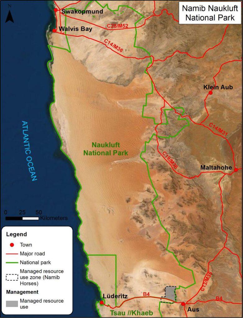 Schutzzone für die Namib-Horses im Namib-Naukluft National Park