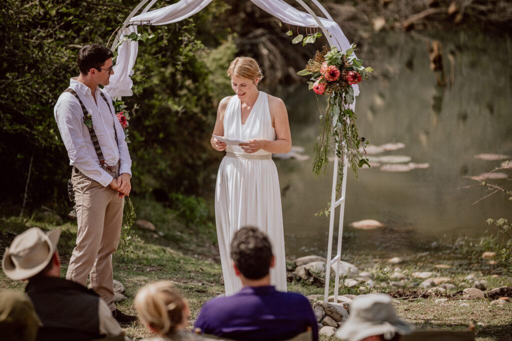 Eine Safari-Hochzeit im Südafrikanischen Busch
