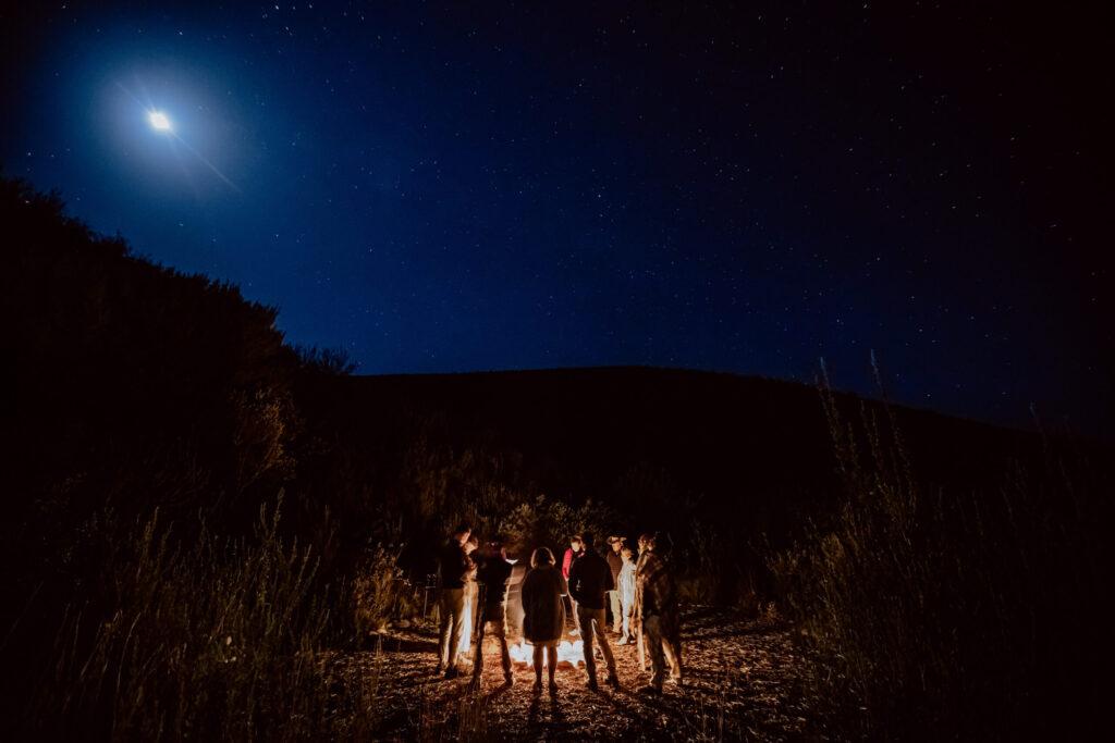 Hochzeitsrede am Lagerfeuer in Südafrika