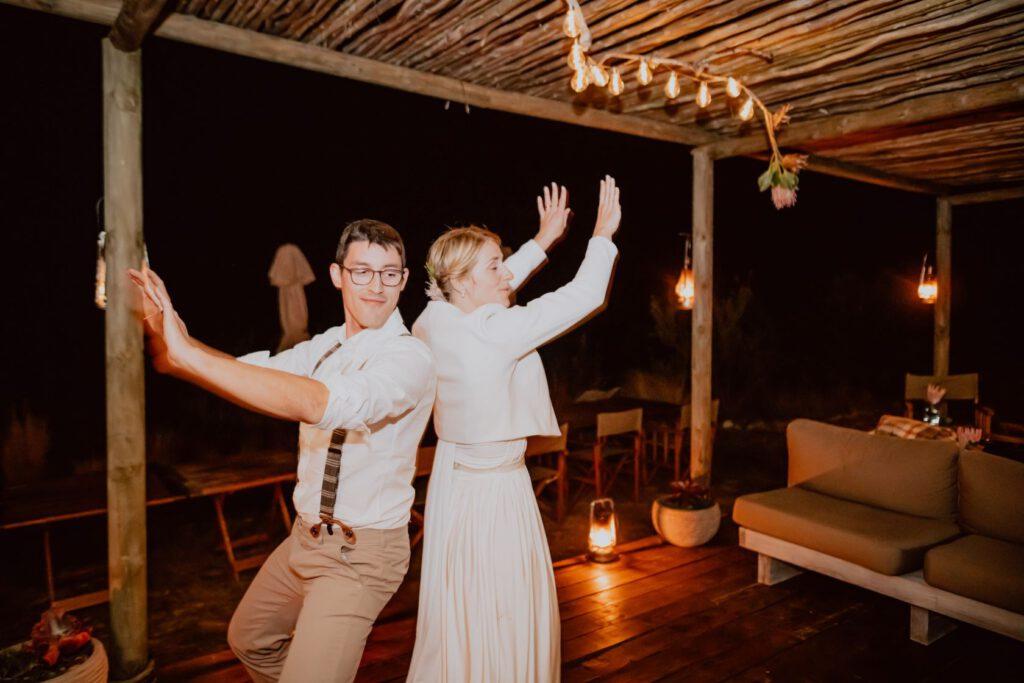 Mini-Hochzeit in Südafrika - Auftakt zur Party im Eco Camp
