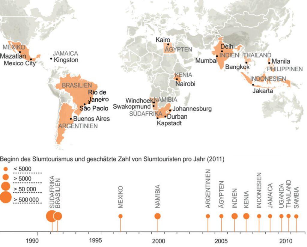 Die weltweit beliebtesten Reiseziele von Slum-Touristen