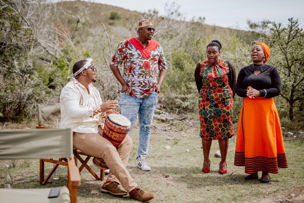 Der Emzini Chor auf unserer Mini-Hochzeit in Südafrika