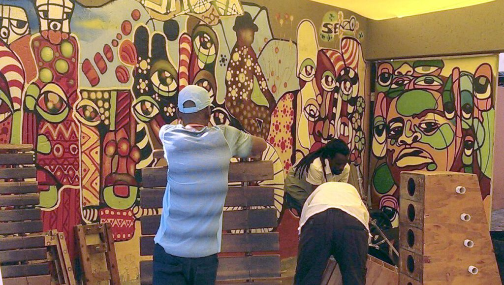 Townships als künstlerische Zentren, wie hier in Soweto