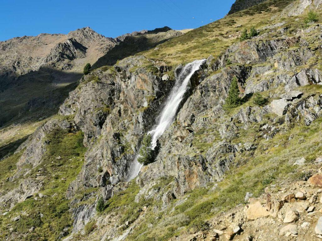 Der Wasserfall unterhalb der Oberetteshütte