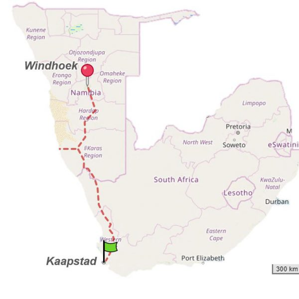 Namibia2Cape_OpenStreetMap_CutOff_Route